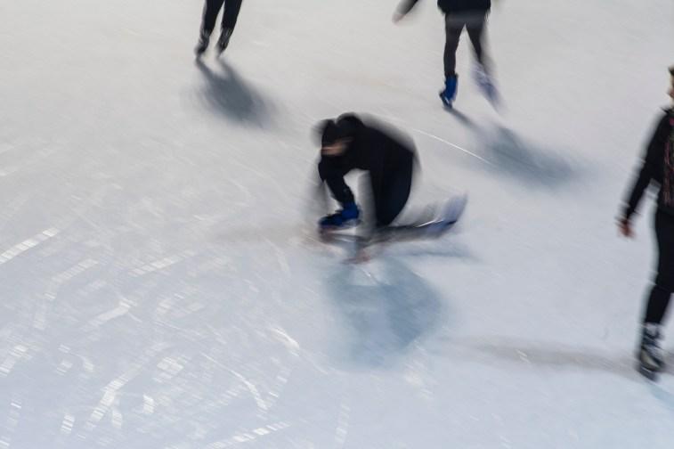 "Slippery Ground. Skating rink in Milano, Piazza Lombardia. December 2016. Nikon D750, 24 mm (24-120.0"" ƒ/4) 1/5"" ƒ/11 ISO 400"