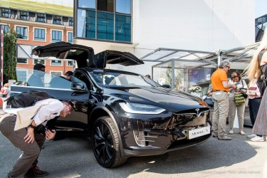 Tesla Model-X at Superstudio, Milano Design Week