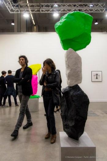 Ugo Rondinone, Three vertical Installations Barbara Gladstone Gallery. MiArt 2018. Nikon D810, 44 mm (24-120 mm ƒ/4) 1/125 ƒ/8 ISO 800