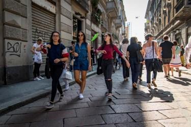 Via Tortona during the Milano Design Week.