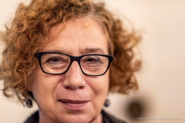 "Susy Marcon, coordinator Dipartimento Manoscritti e Rari, biblioteca Nazionale Marciana. Venice, August 2018. Nikon D810, 85 mm (85 mm ƒ/1.4) 1/200"" ƒ/1.4 ISO 1600"