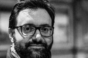 Alessandro Beltrami, editor, art critic, Avvenire Magazine. Milano, April 2019. Nikon D810, 85 mm (85 mm ƒ/1.4) 1/125 ƒ/2.8 ISO 4000