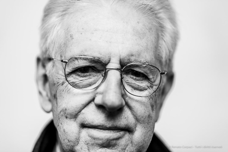 Mario Monti, economist, academic e politician, senator for life, former Prime Minister. Milano, April 2019. D810, 85 mm (85 mm ƒ/1.4) 1/125 ƒ/1.4 ISO 200