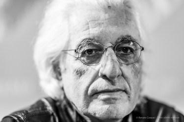 """Germano Celant (1940-2020), art historian, curator. Milano, December 2019. Nikon D810, 85mm (85,0 mm ƒ/1.4) 1/125"""" ƒ/1.4 ISO 500"""