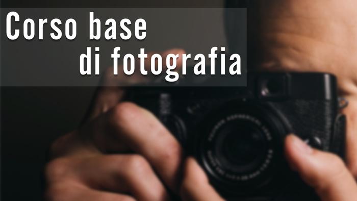 grafica del Corso Base gratuito di fotografia