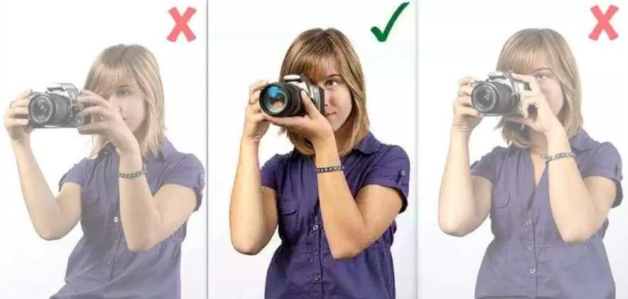 Impugnare correttamente la macchina fotografica