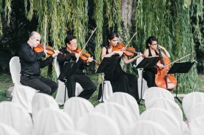 Musicisti durante rito civile