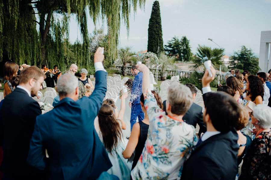 Lancio riso matrimonio a Villa Roseto - Imperia