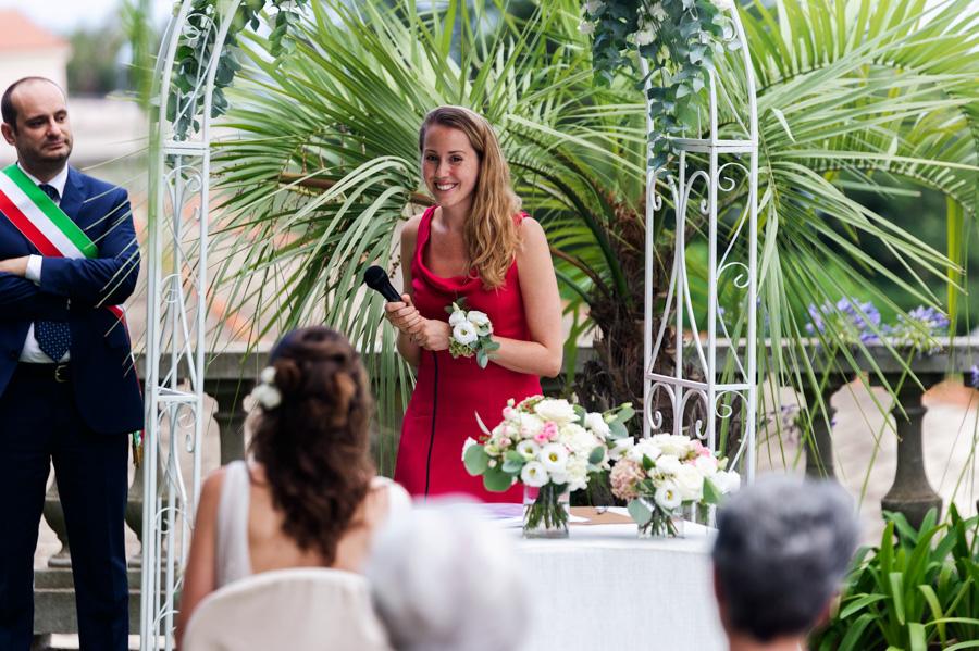 Discorso del testimone durante il matrimonio