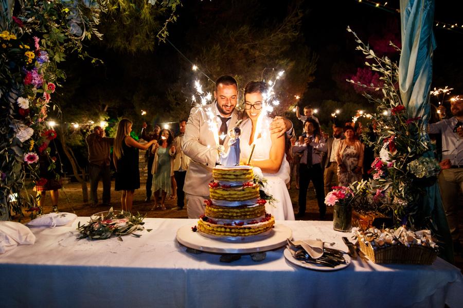 Taglio torta sposi matrimonio Sanremo