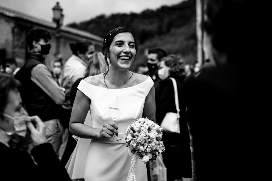 Uscita sposa dalla chiesa