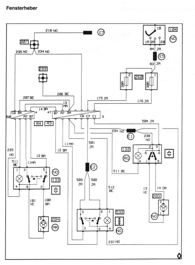 Schaltplan Renault Laguna 2