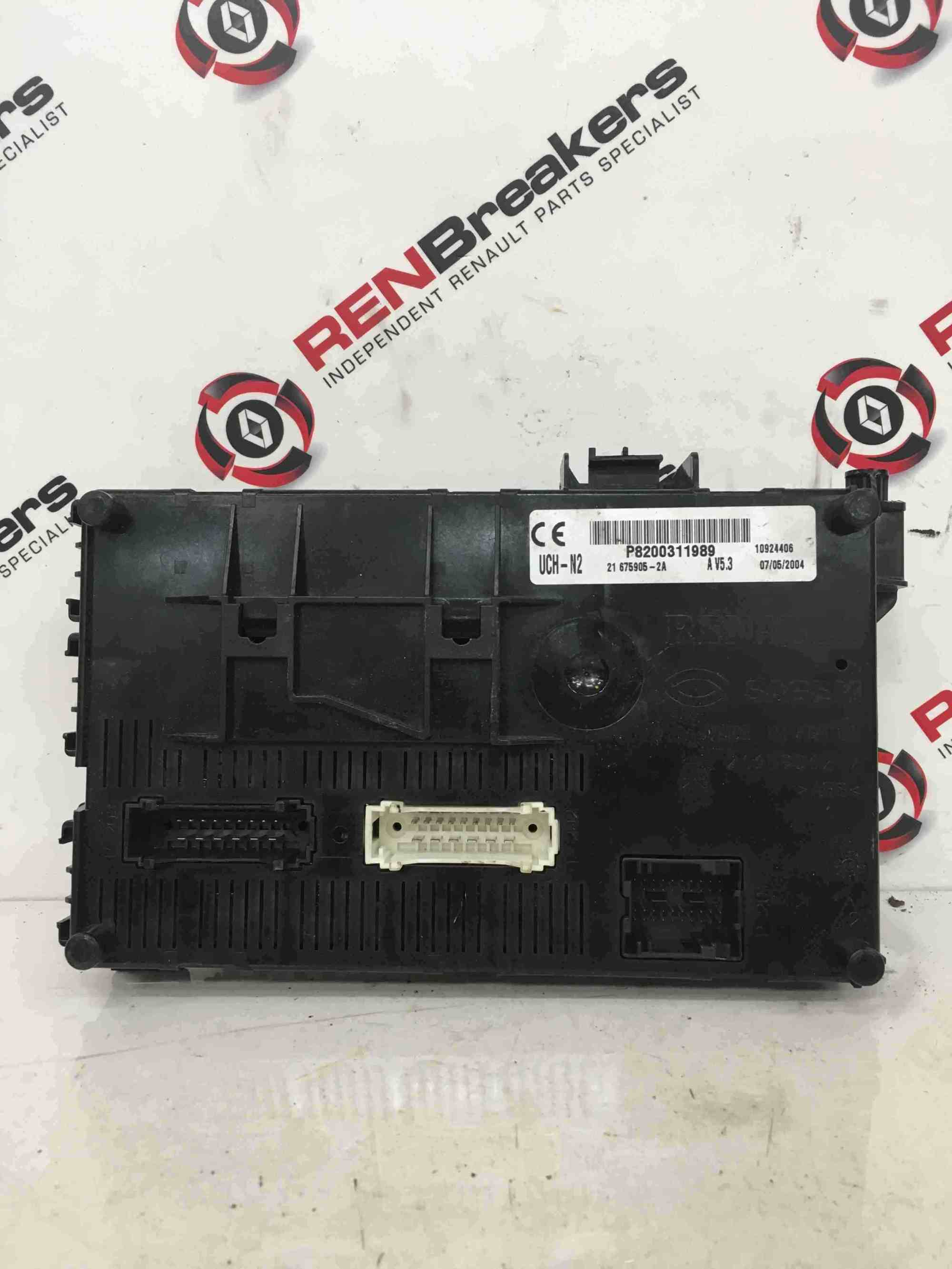 hight resolution of renault clio mk2 2001 2006 n2 dashboard fuse box uch bcm recoded renault clio uch fuse box