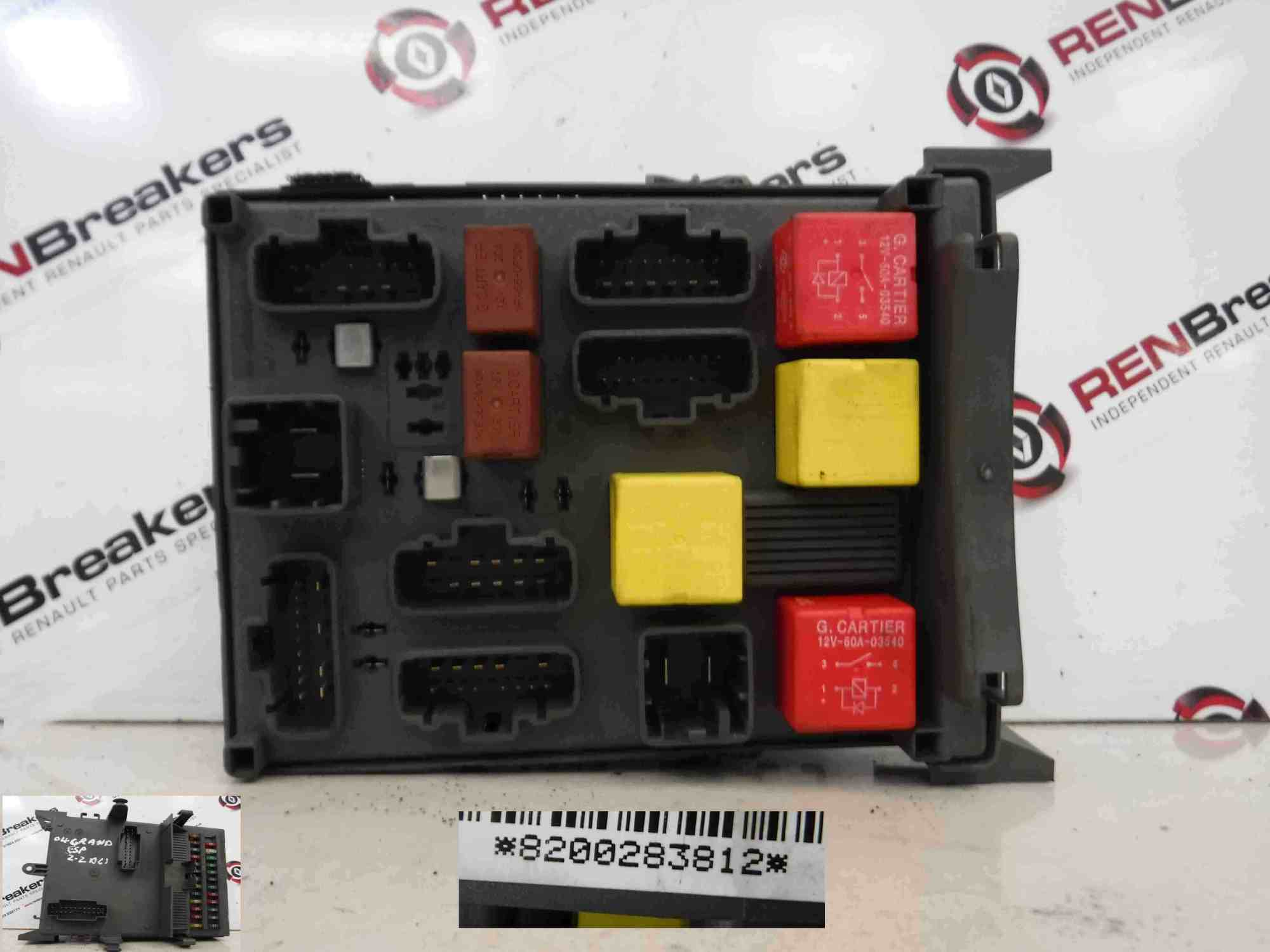 hight resolution of renault espace 2003 2013 interior dashboad fuse box relay computer 8200283812