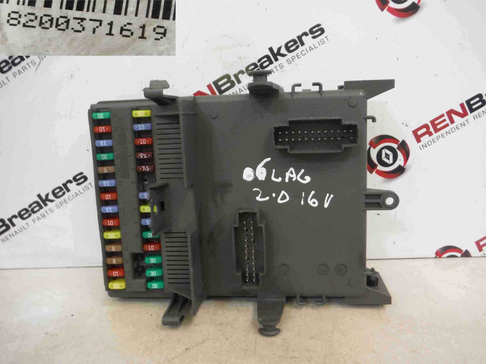 hight resolution of renault laguna 2001 2007 dashboard fuse box relay computer 8200371619
