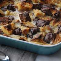 Nutella Bread Pudding with Leftover Christmas Panettone