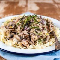 Recipe:Turkey Stroganoff with Soured Cream