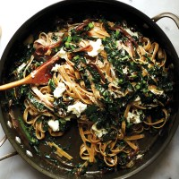 Wholewheat Fettuccine with Kale by Amy Chaplin