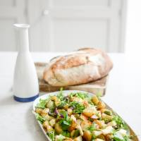 Recipe: Warm New Potato, Asparagus and Halloumi Salad
