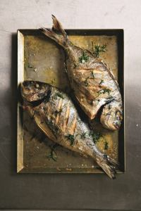 Fish Baked Bream with Dill Butter