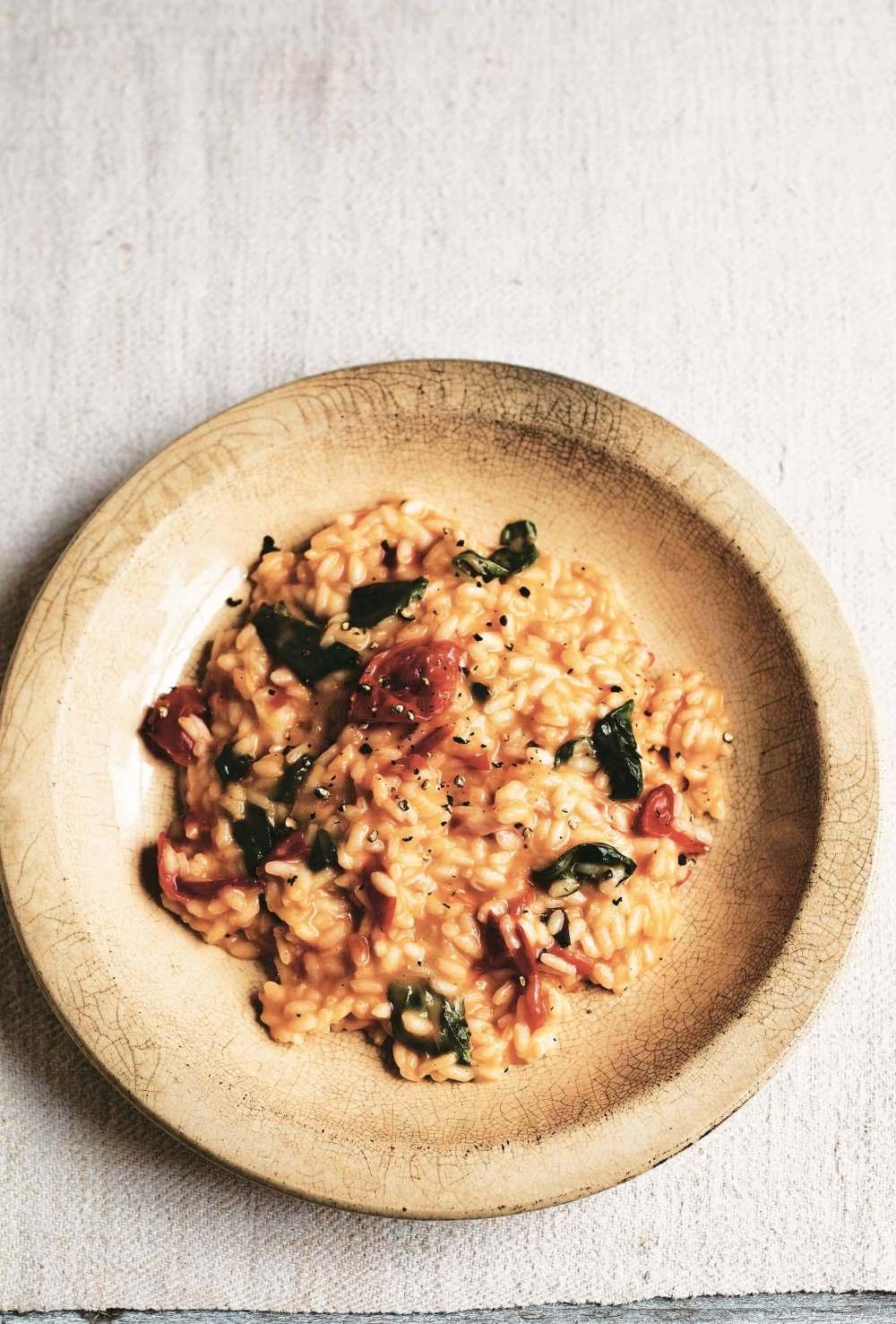 Fast Cook Italian: Gennaro's Risotto Caprese with Tomato, Mozarella and Basil