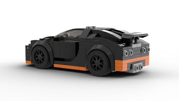 LEGO Bugatti Veyron 16 4 Super Sport Model Rear View