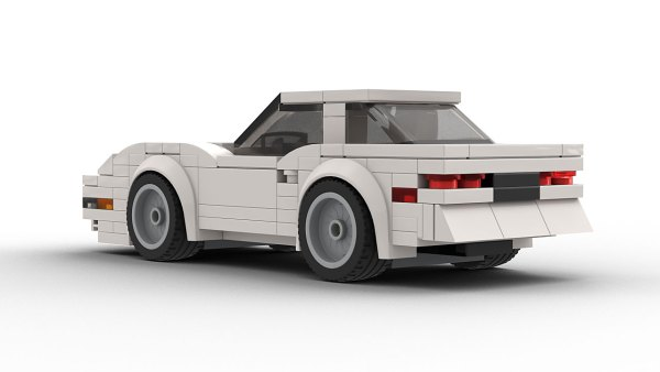 Chevrolet Corvette C4 LEGO Model Rear View