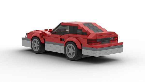 LEGO FORD Mustang Fox Model Rear View