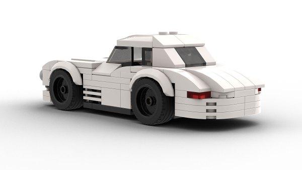LEGO Mercedes 300SL Race Car Model Rear View