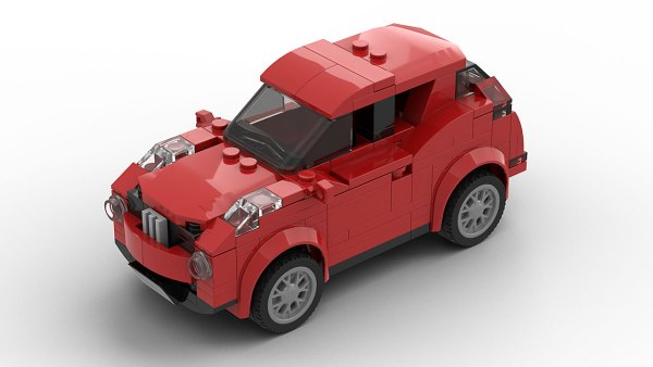 LEGO Nissan Juke model top view