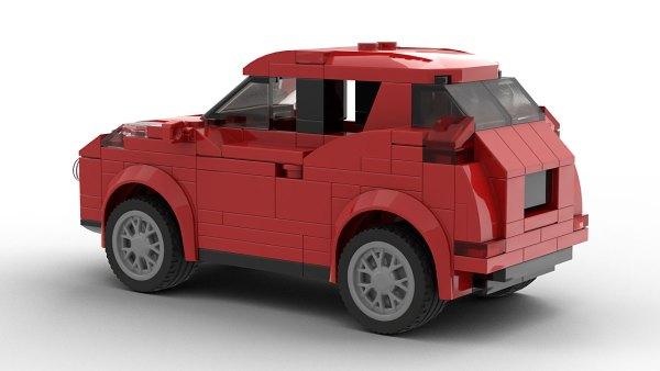 LEGO Nissan Juke model rear view
