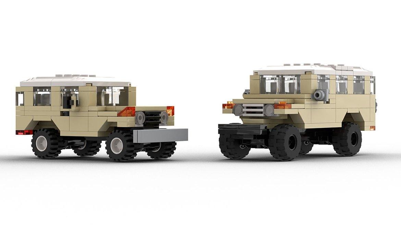 2 LEGO Toyota Fj40 models