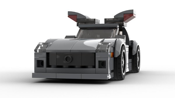 LEGO Mercedes-Benz SLS AMG Open Doors model front view