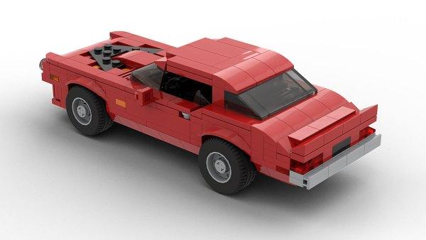 LEGO Pontiac Firebird Trans Am 73 model Rear View