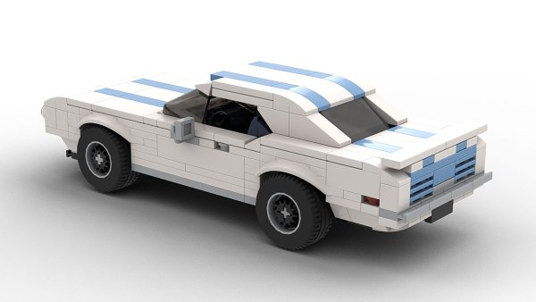 LEGO Pontiac Firebird Trans Am 69 model rear virw