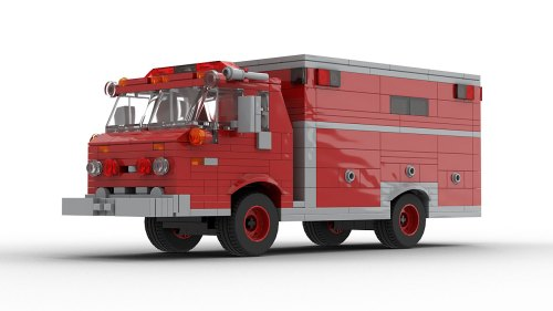 LEGO Ford C Series Fire Dept Vehicle model
