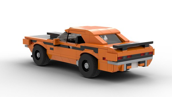 LEGO Dodge Challenger TA model rear view
