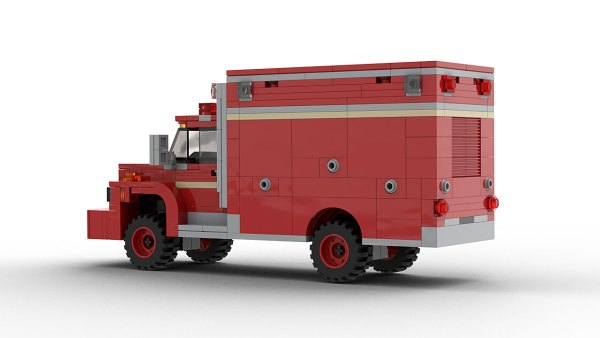 LEGO Ford F700 Fire Department Vehicle rear view