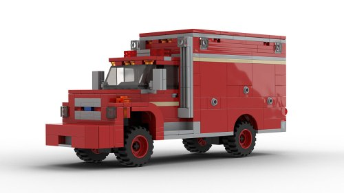 LEGO Ford F700 Fire Department Vehicle model
