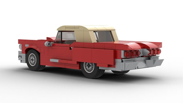 LEGO Ford Thunderbird 1960 model rear view