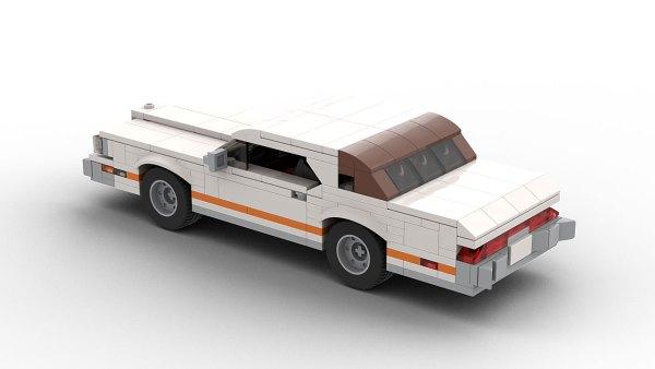 LEGO Ford Thunderbird 73 model rear view