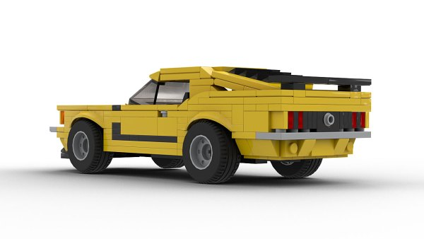 LEGO Ford Mustang Boss 302 70 model rear view