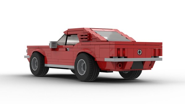 LEGO Ford Mustang GT Fastback 1966 model rear view