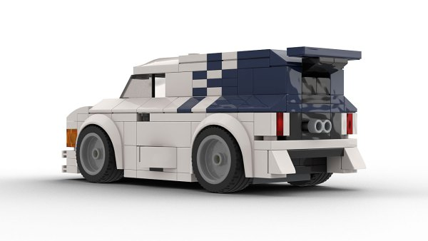 LEGO Ford Supervan 2 model rear view