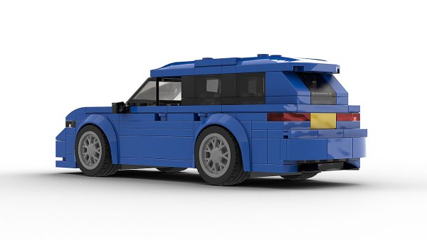 LEGO Audi RS6 Avant Wagon model rear view
