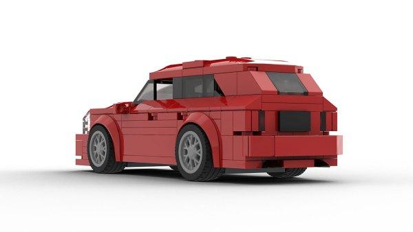 LEGO Cadillac CTS-V Wagon model rear view