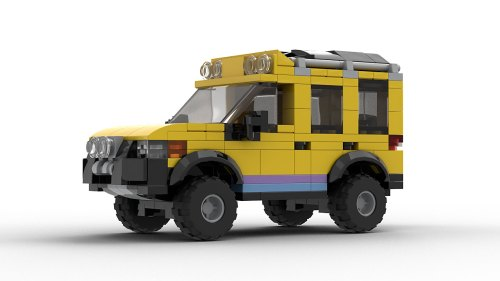 LEGO Land Rover Freelander Camel Trophy Model