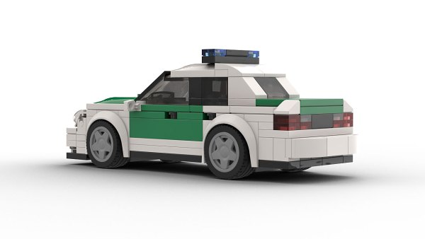 LEGO Mercedes-Benz E320 Police Rear View model rear view