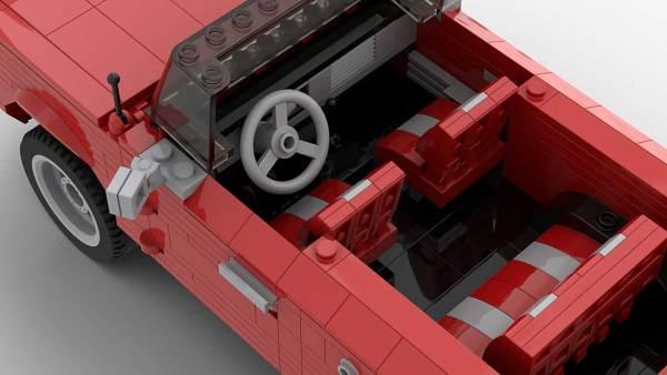 LEGO Ford Bronco MOC interior image 2