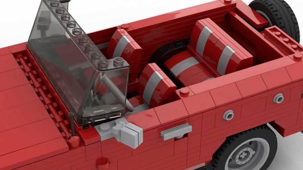 LEGO Ford Bronco MOC interior